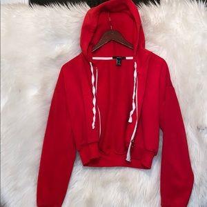 Red crop top jacket